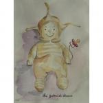 Aquarelle du doudou de Loanne, réalisée par Chenel