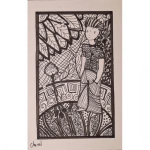 zentangle de chenel 2018 11- le petit prince