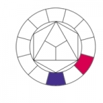13- Cercle chromatique, violet-magenta