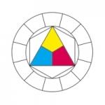 1- Cercle chromatique, les trois couleurs primaires