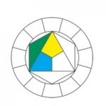 10-  Cercle chromatique, cyan-jaune-vert