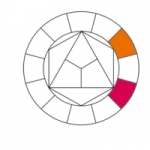 19-Cercle chromatique, magenta-orange