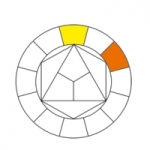 11- Cercle chromatique, jaune-orange