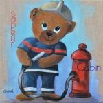 Tableau de Chenel - Le nounours pompier de Gabin
