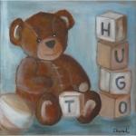 Tableau de Chenel : le nounours de Hugo