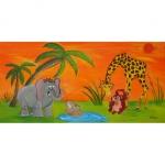 Tableau de Chenel : les animaux de la savane