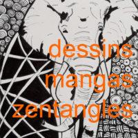 dessins, zentangles, mangas