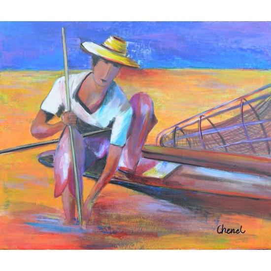 Tableau-de-Chenel-Le-pêcheur-Thaïlandais